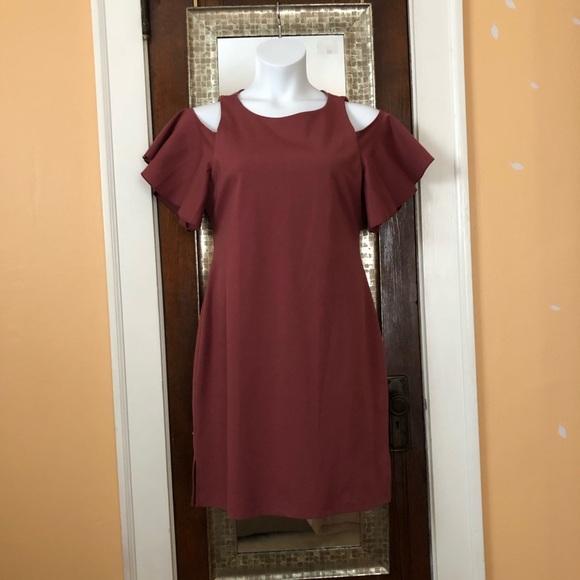 Dresses & Skirts - Cold shoulder flutter sleeve dress